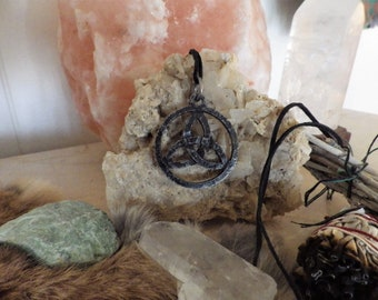 TRIQUETRA, forged Celtic pendant - Celtic Jewelry Triquetra Pendant