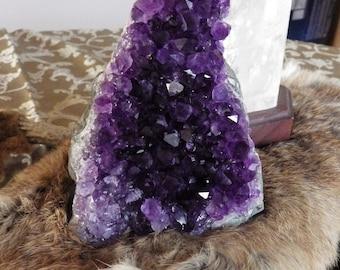Amethyst Geode Cluster  Amethyst Crystal Uruguay Dark Amethyst Chakra Stones