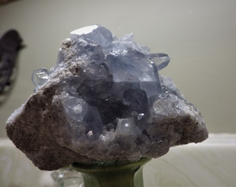 Raw Natural Celestite Geode Cluster of Points-  energy and meditation stones
