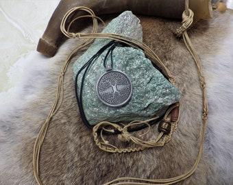 Yggdrasil - Knotwork Tree of Life Pendant -  Celtic Pendant ,Viking Jewelry