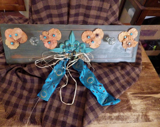 Featured listing image: Fleur De Lis - Functional Decor wall hanging w/glass knobs