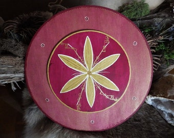 Hand painted Glukstern (Star of Luck) w/Runes for Protection, Joy and a Good Year - Rune Decor