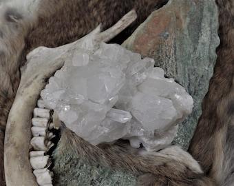 Multi Point Quartz Crystal Cluster Medium -  Raw Crystals, quartz clusters, Energy Stones, Raw Stones, Meditation Stones