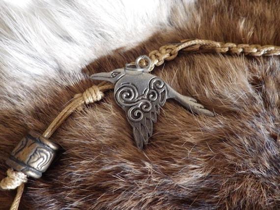 Corvus - Celtic Crow - Pewter Talisman