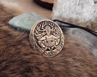 Cernunnos - Gundestrup Cauldron Bronze Pendant  Celtic Amulet Celtic Jewelry Pagan Jewelry