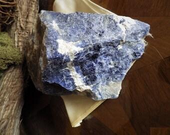 Medium Raw Natural Sodalite Display Piece -  Energy Stones, Meditation Stones  Altar Stones