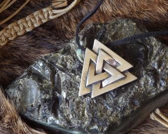Sterling Silver Vulknut - Viking Jewelry, Asatru pendant