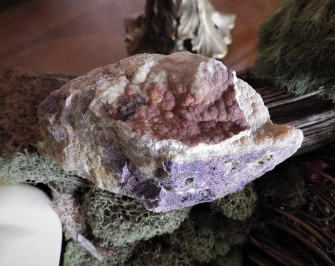 Featured listing image: Natural Colorado Botryoidal Fluorite Stone - Energy Stone   Meditation Stone  Altar Stone