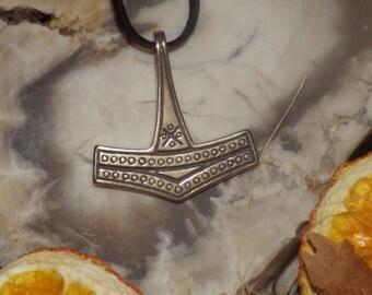 Medium Danish Bronze Thor's Hammer Pendant -  Mjolnir Pendant  Asatru Pendant Viking Jewelry Norse Jewelry