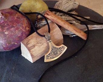 HERSIR  Norse Axe Pendant   Viking Jewelry