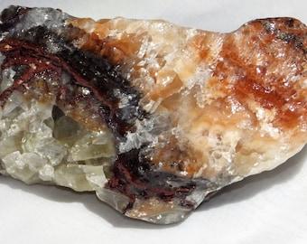 Raw Rainbow Calcite - Mental Growth Stone  Energy Stone  Meditation Stone  Altar Stone
