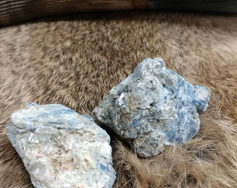 Raw Kyanite Palm Stones3   Energy Stones  Meditation Stones  Altar Stones
