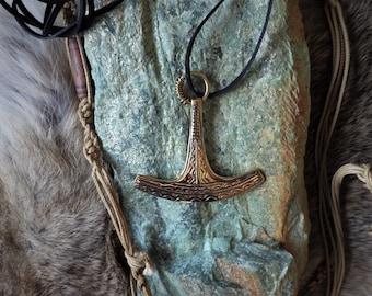 Finnish Ukko's Axe Thor's Hammer Pendant - Viking Jewelry