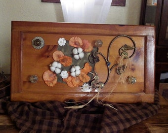 The Old Door Wall Decor with knobs/hooks  -  Wall Decor, Hat Rack