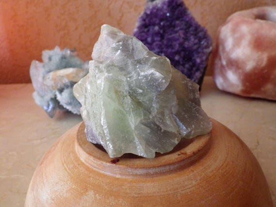 Pale Green Calcite Cluster
