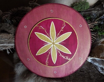 Hand painted Glukstern  w/Runes for Protection, Joy and a Good Year - Rune Decor