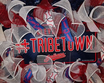 Tribetown Cleveland Indians Wreath
