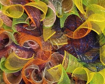 Tropical Skittles Wreath