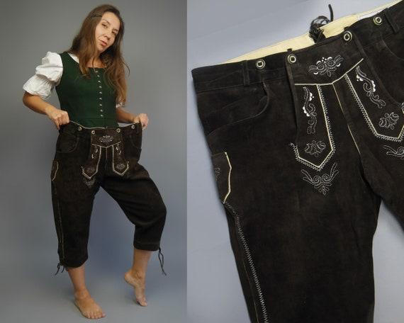Bavarian men's shorts for Oktoberfest Vintage  LED
