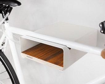PARAX Bicycle wall holder S-RACK (white / walnut)