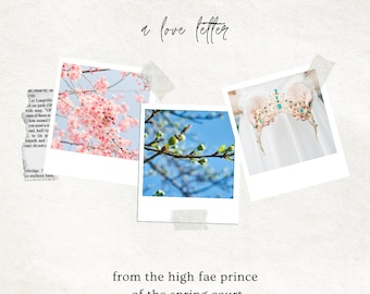 SPRING: Love Letter From a Fae Prince of the Spring Court, Romantic Parcel for your Favorite Season, Deluxe Option