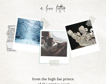 WINTER: Love Letter From a Fae Prince of the Winter Court, Romantic Parcel for your Favorite Season, Deluxe Option