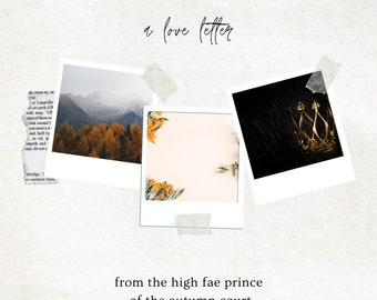 AUTUMN: Love Letter From a Fae Prince of the Autumn Court, Romantic Parcel for your Favorite Season, Deluxe Option