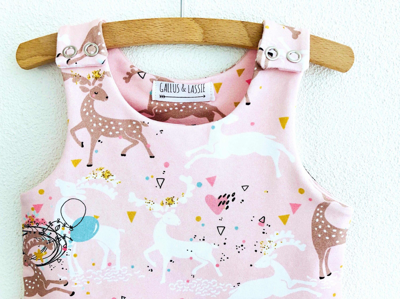 Organic baby overall deer baby romper baby harem romper | Etsy