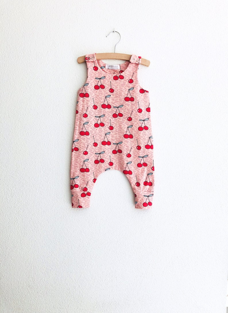 f01e634c786 Cherry baby romper fruit baby coverall