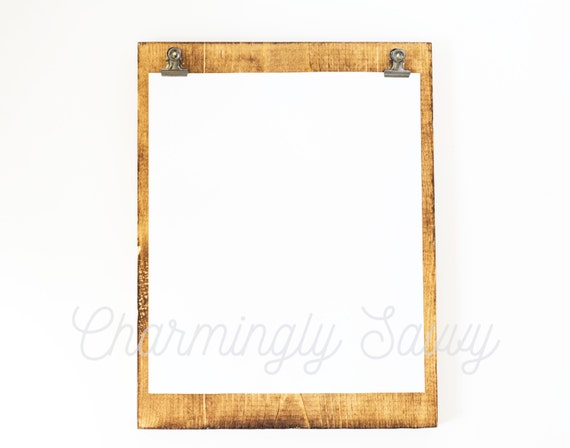Styled Stock Photography Wood Frame or Clipboard w/ White | Etsy