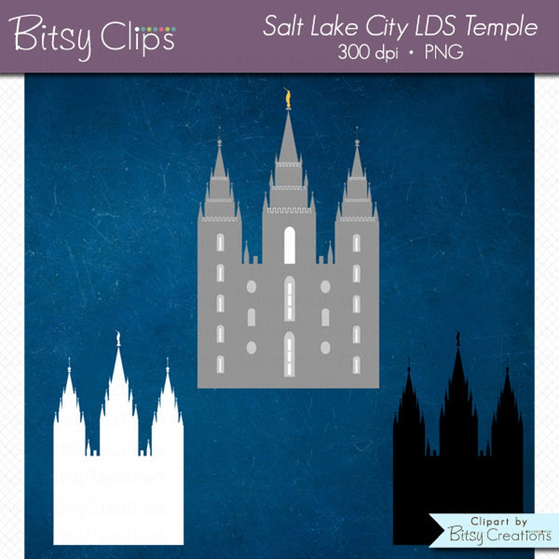 Lds Temple Clipart Salt Lake City Commercial Use Clip Art Etsy