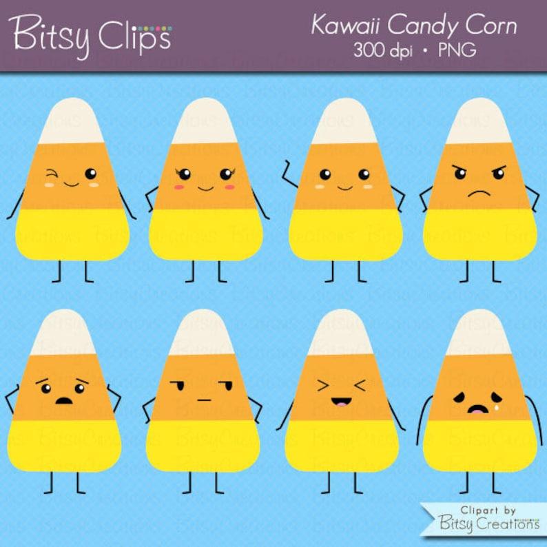 Kawaii Candy Corn Digital Art Set Clipart Commercial Use ...