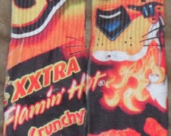 2b9d2e76a37 Flaming hot cheetos custom dryfit socks