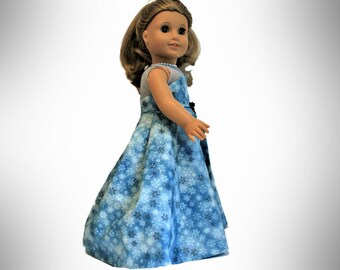 Snow Ball Fly Away Gown and Shoes for 18 Inch Dolls such as American Girl, Our Generation, Madam Alexander