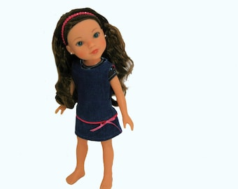 Denim Jeans, Denim Jumper and Galaxy Tee For 13.5 – 14 Inch Dolls such as Hearts 4 Hearts, Corolle Les Cheries
