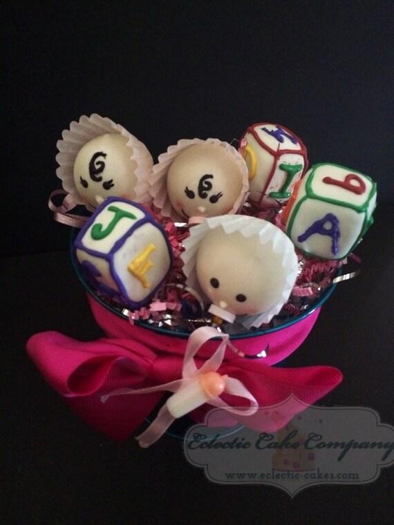 Baby Shower Cake Pop Gift Basket