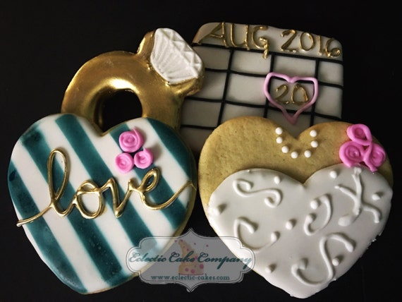 Engagement Wedding Set Cookies