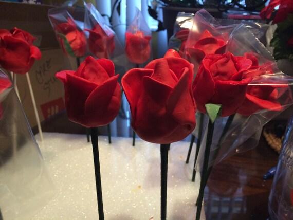 1 Dozen Long Stemmed Rose Cake Pops