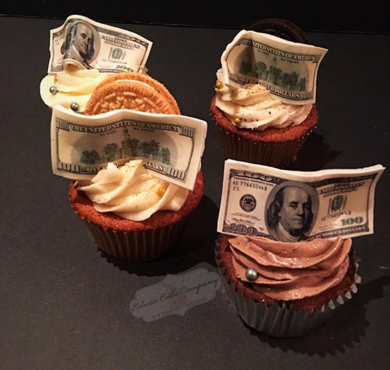 Money Cupcake Toppers