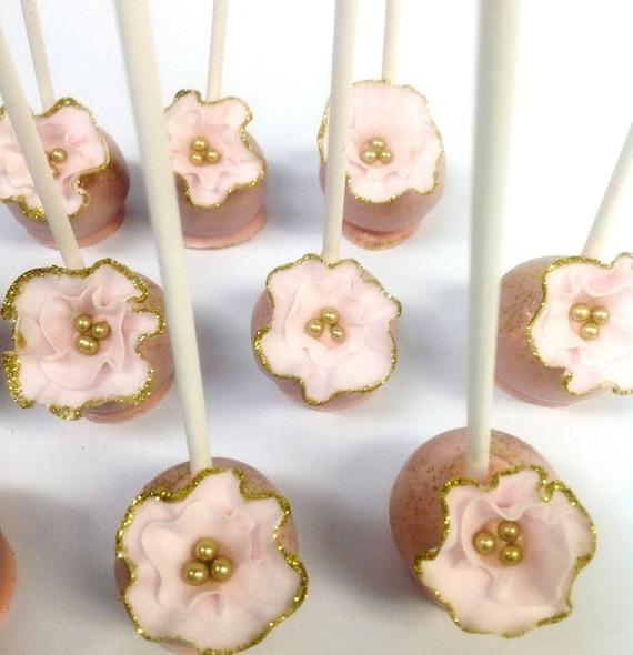Glitter Flower Cake Pops
