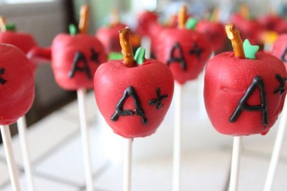 Teacher Apple Cake Pops