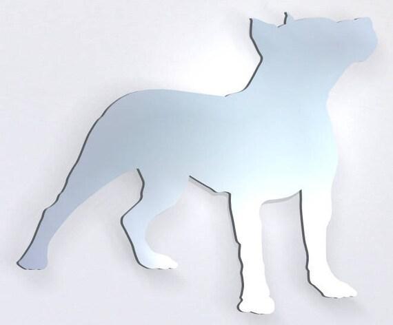 Staffordshire Terrier Chien Acrylique Miroir