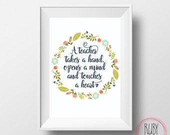 Printable Teacher print wall print quote teacher gift   Etsy
