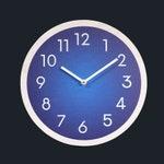 Blue wall clock. Wood wall clock.  Numbers clock. Navy blue clock. Modern wall clock. Contemporary wall clock.