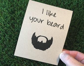 Funny Relationship Anniversary Beard Card for boyfriend, husband