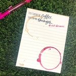 Funny Wine Coffee Lover To Do List Lined Note pad, Funny Office Gift for Friends