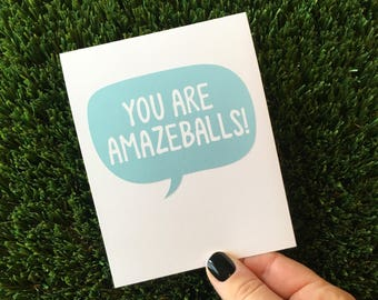 You Are Awesome Card Etsy