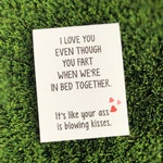 Funny Relationship Card / Funny Anniversary Card / Funny Valentine Card / Funny Fart Card / Funny I love You Card / Funny Card for husband