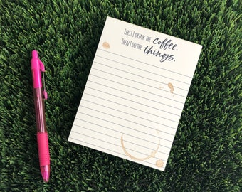 2031319eac4 Funny Coffee Lover To Do List Lined Notepad