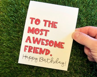 Sarcastic Funny Personalized Happy Birthday Greeting Card for Friend
